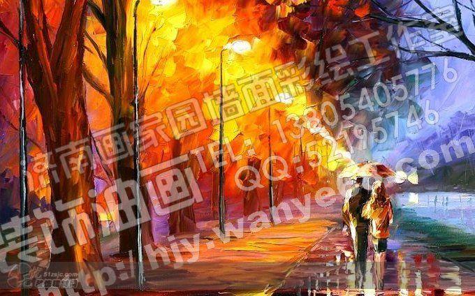 油画 济南画家园墙面彩绘工作室作品 效果图,实景图,样板间,建